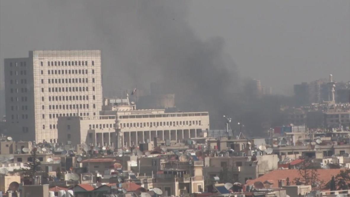 Syria: Triple car bombing strikes the heart of Damascus