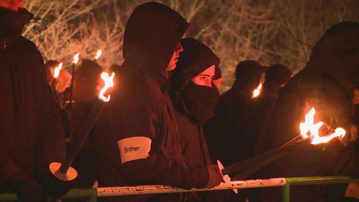 Germany: Neo-Nazi Torch vigil opposed by anti-fascists