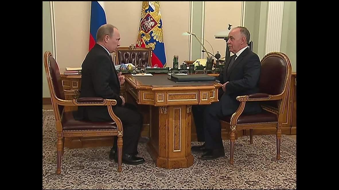 Russia: Vladimir Putin discusses the issue of drug control
