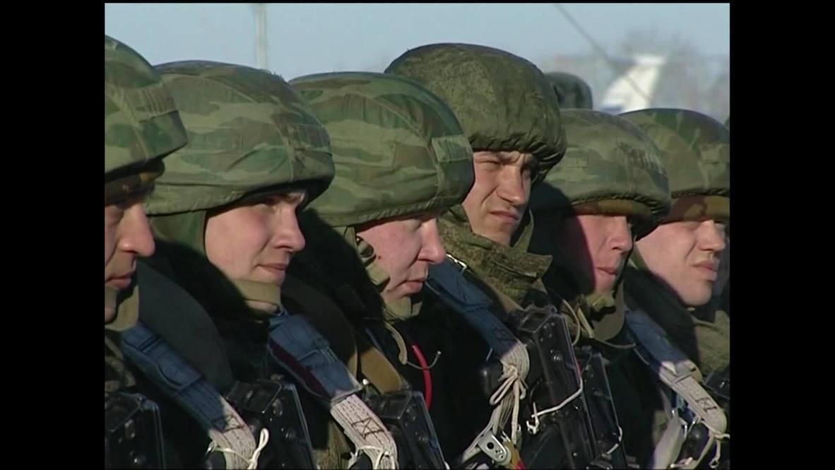 Russia: Marines prepare to skydive into Black Sea basin