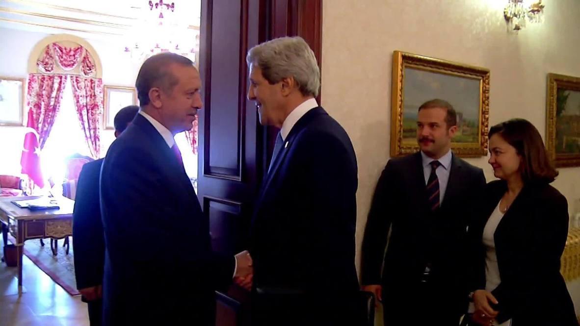 Turkey: Kerry meets Erdogan post joint news conference