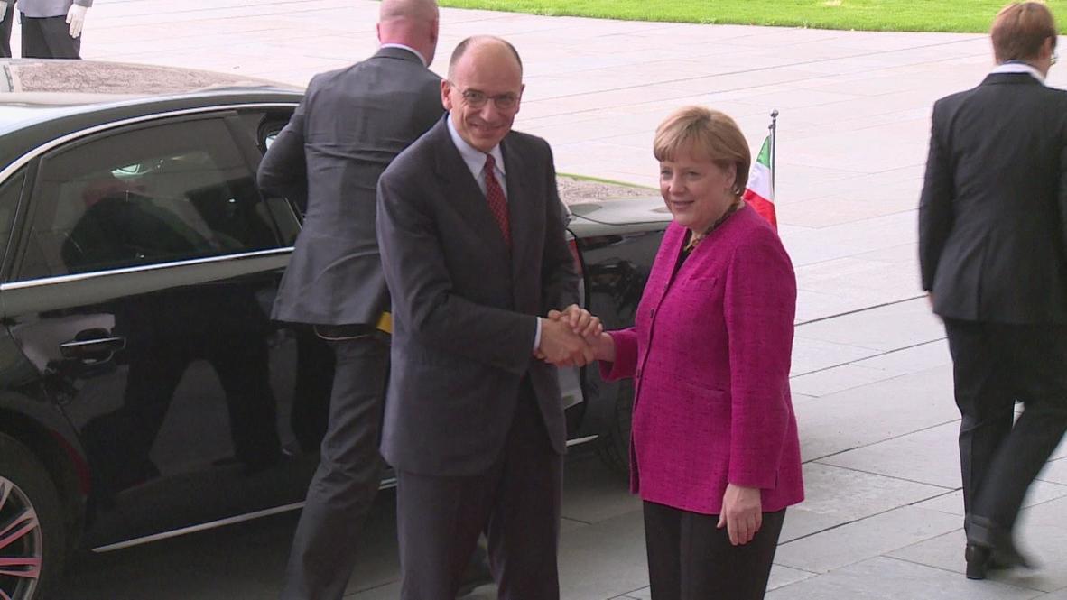 Germany: New Italian PM makes Merkel top priority
