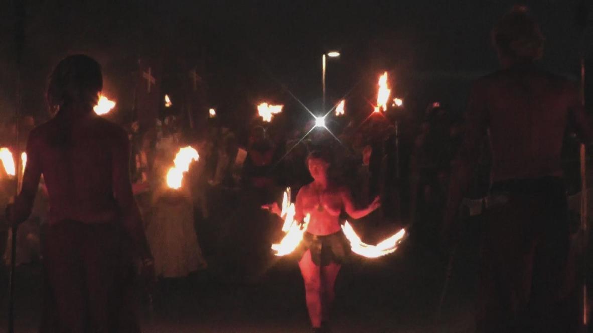 UK: Beltane fire festival sets Edinburgh ablaze