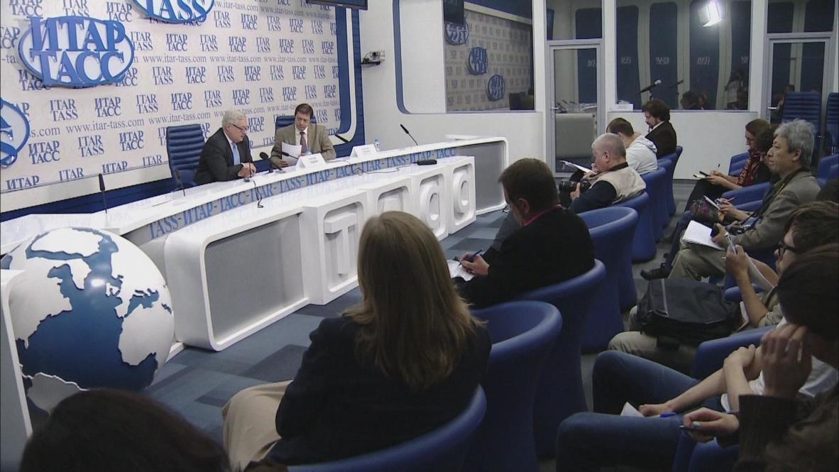 "Russia: Ryabkov decries EU ""double standards"" over Syria arms supplies"