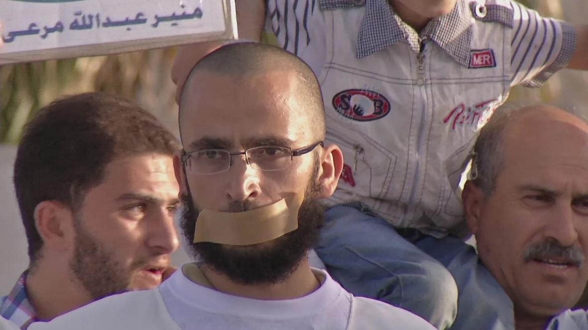 Jordan: Jordanians demand Israel release hunger strikers