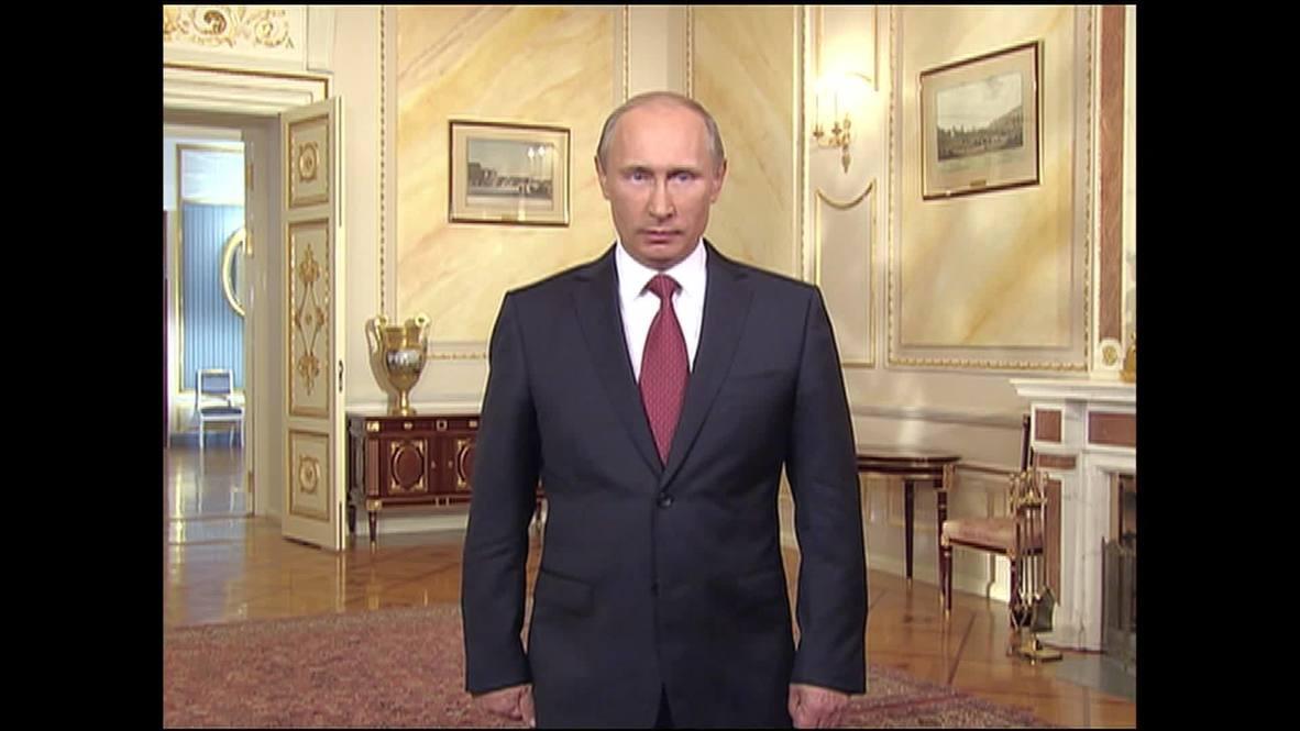 Russia: Putin launches Russian bid for Expo 2020