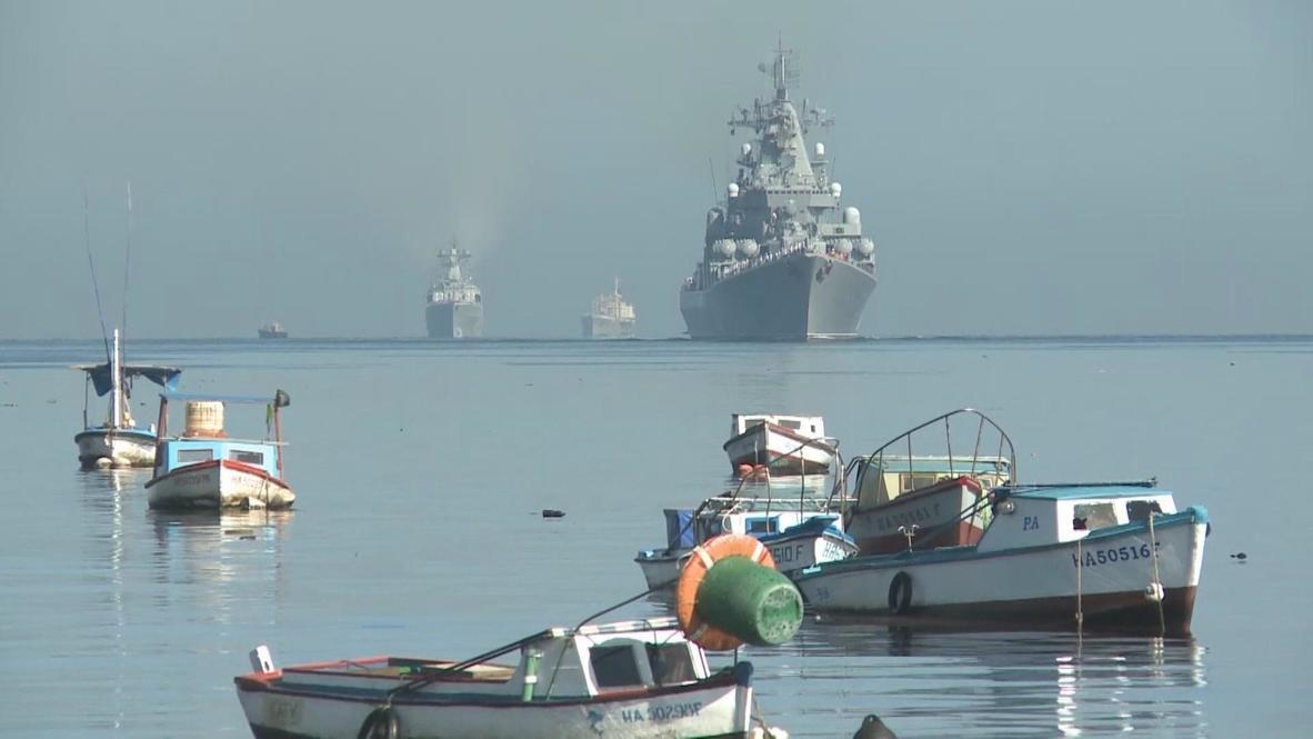 Cuba: Russian Moskva Missile Cruiser docks in Havana