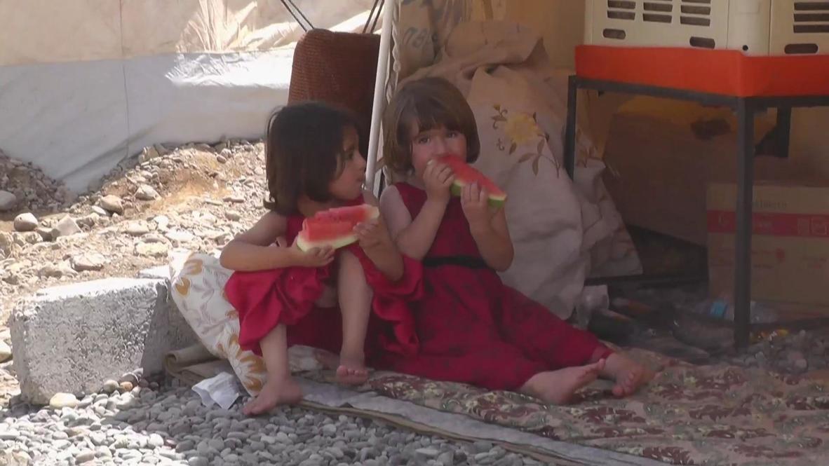 Iraq: Thousands of Syrian children flood new refugee camp