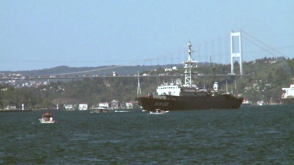Turkey: Russian warship arrives in Mediterranean