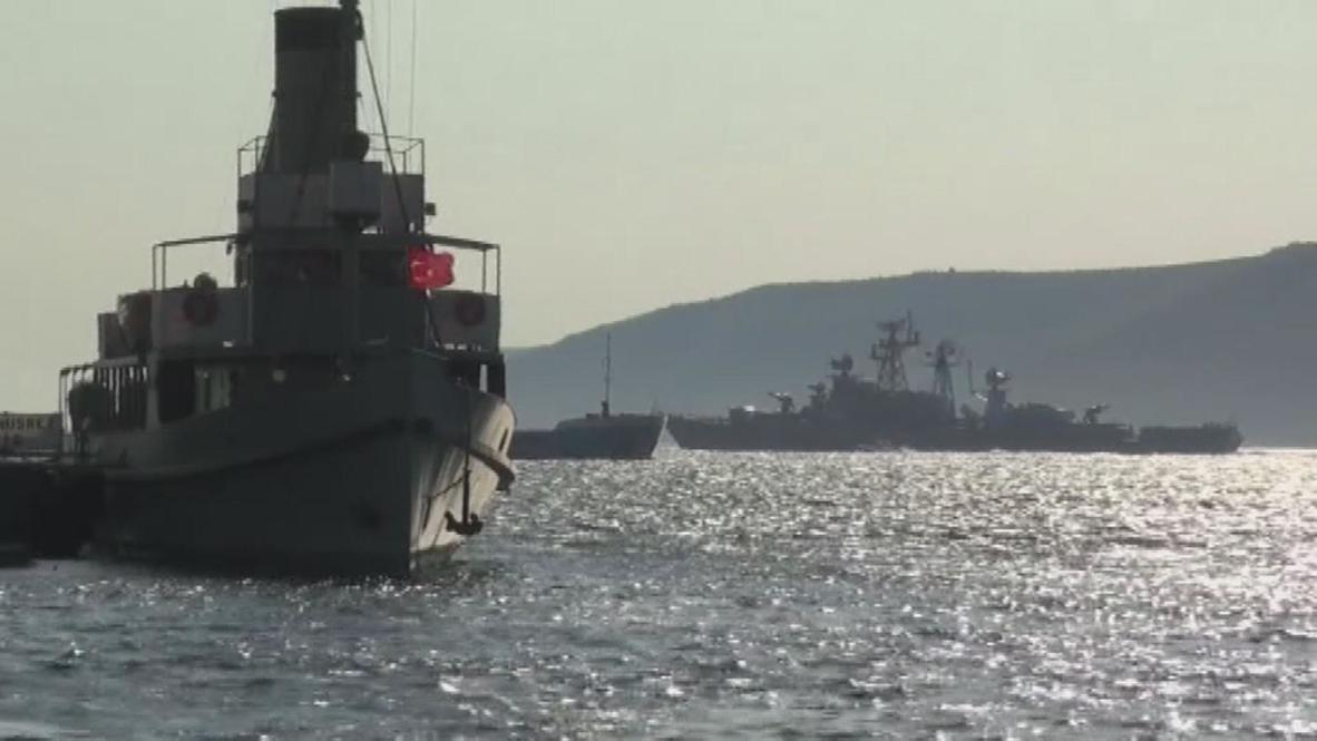 Turkey: Missile cruiser sets sail to Syria