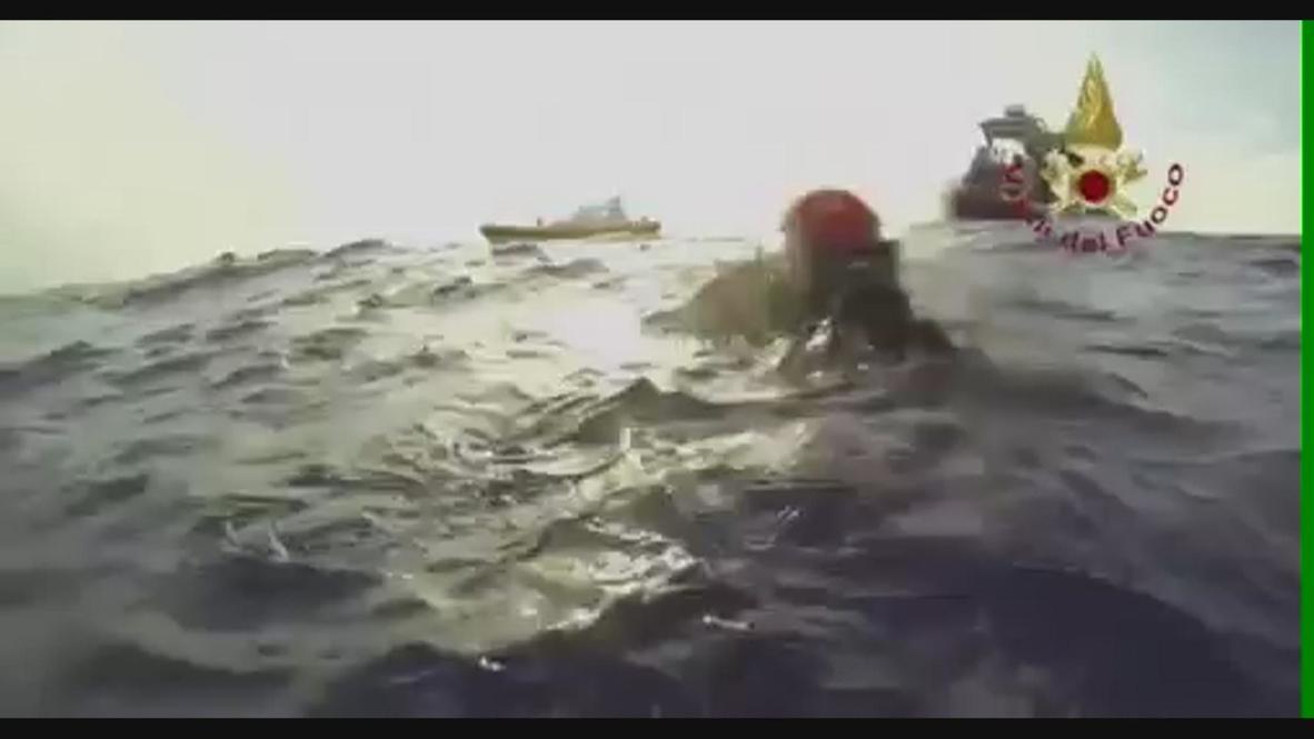 Italy: Divers find sunken migrant vessel on ocean floor