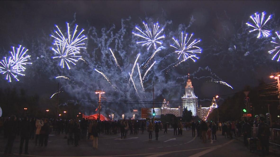 Russia: Record-breaking firework show kicks off 'Circle of Light' Festival