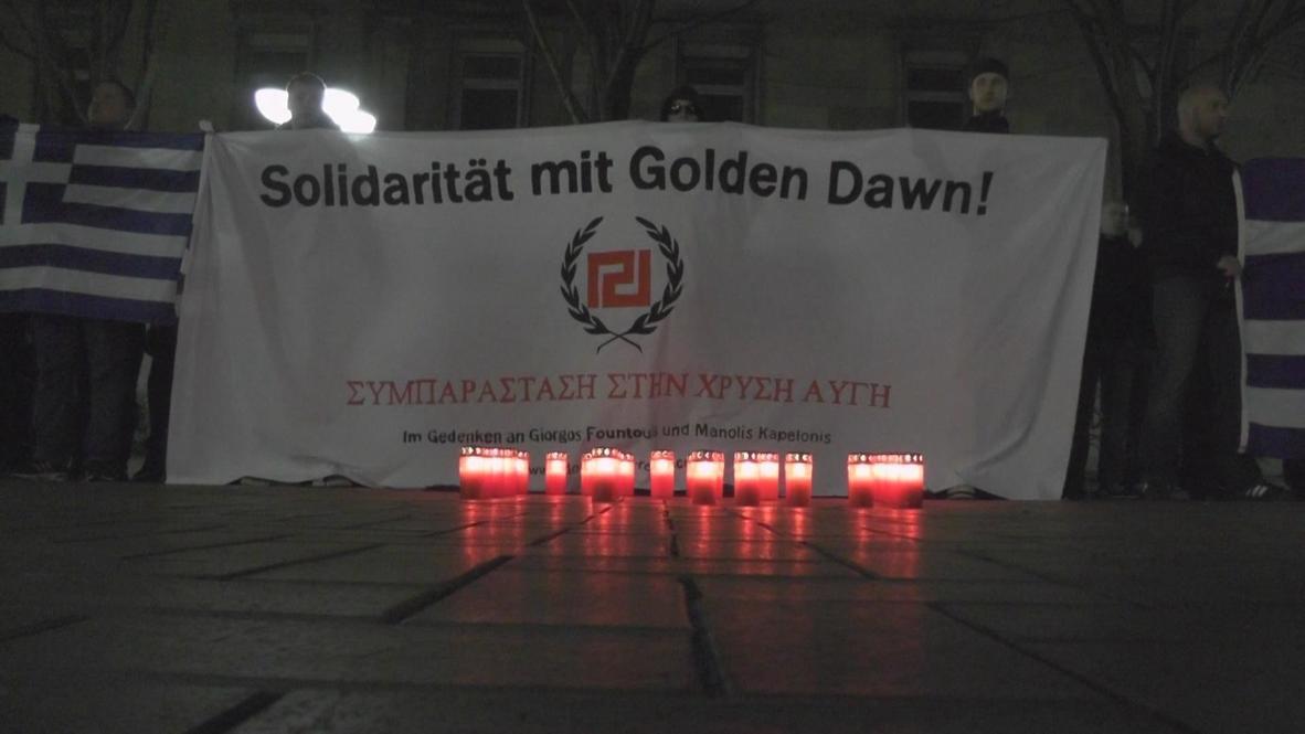 Germany: Golden Dawn solidarity protest in Dortmund