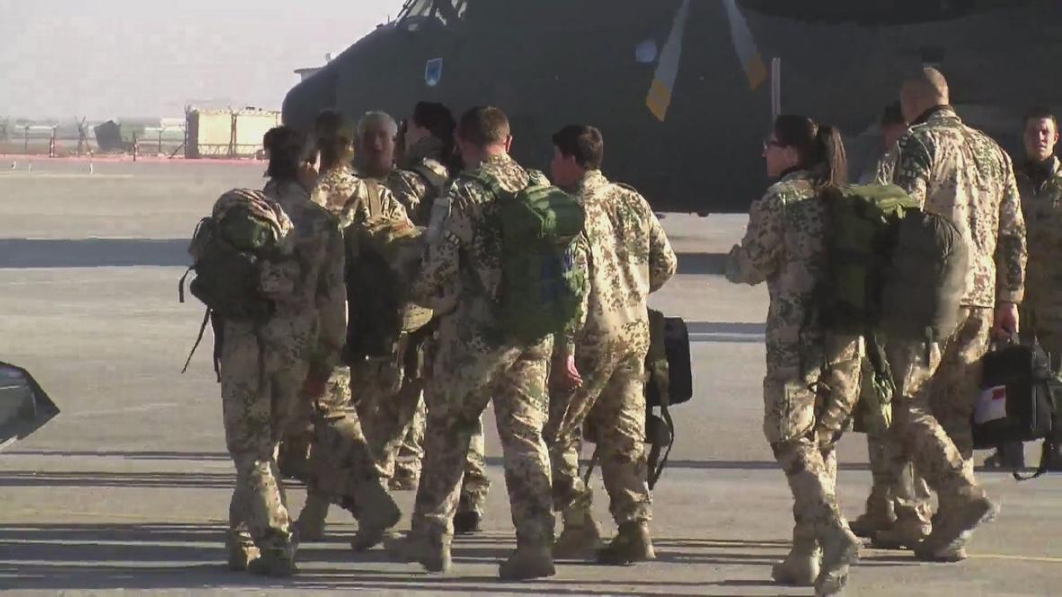 Afghanistan: German troops return from Afghanistan