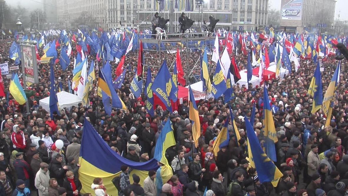 Ukraine: Kievans rally for EU association agreement