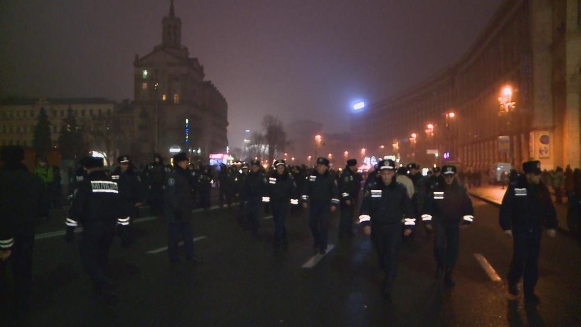 Ukraine: Police pepperspray pro-EU protesters in Kiev