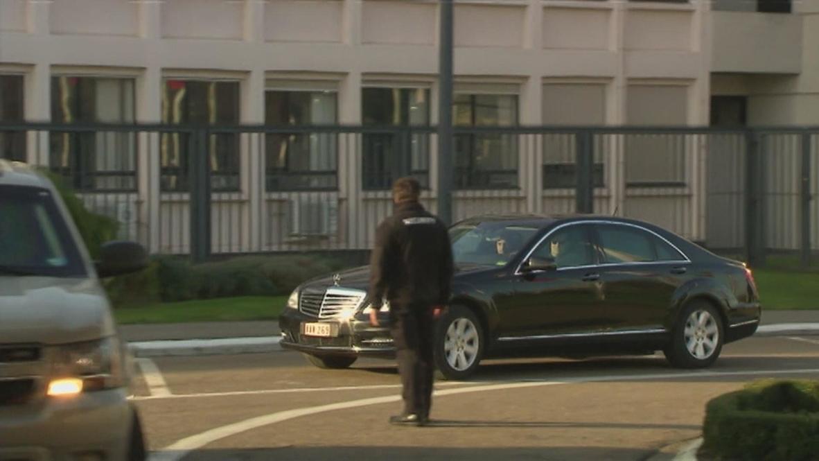 Belgium: Kerry arrives at NATO headquaters