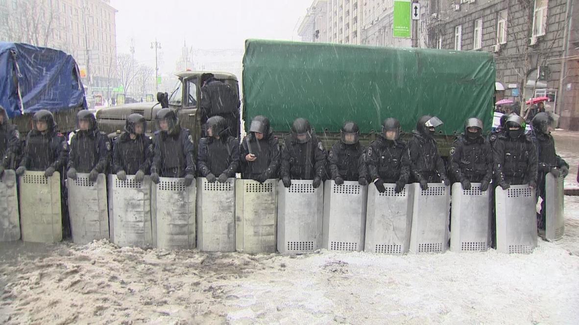 Ukraine: Police cordon off streets in Kiev