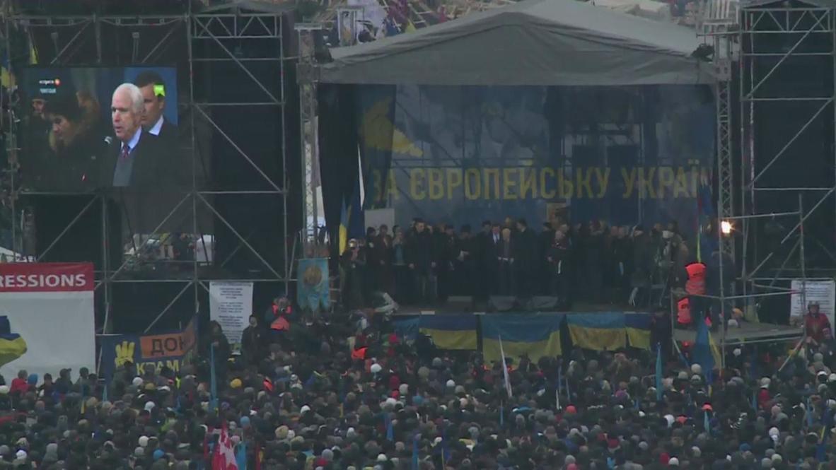 Ukraine: McCain rouses the Maidan crowds, pledging support