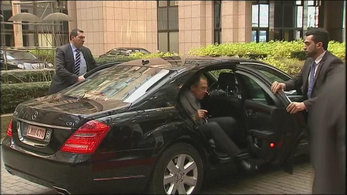 Belgium: Lavrov arrives in Brussels for Ashton meeting
