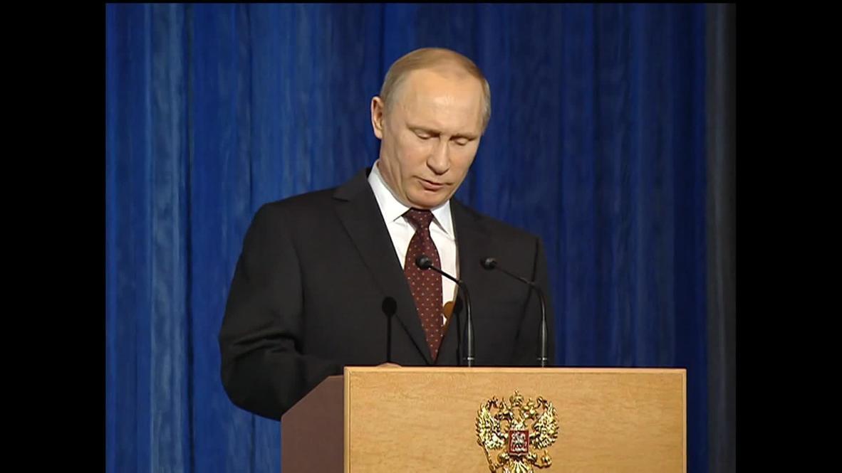 Russia: We must 'resist' methods that 'weaken Russia's influence' - Putin