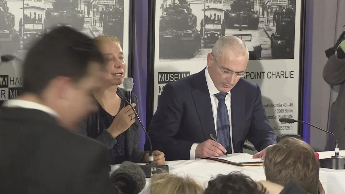Germany: Khodorkovsky thanks Merkel during Berlin press conference