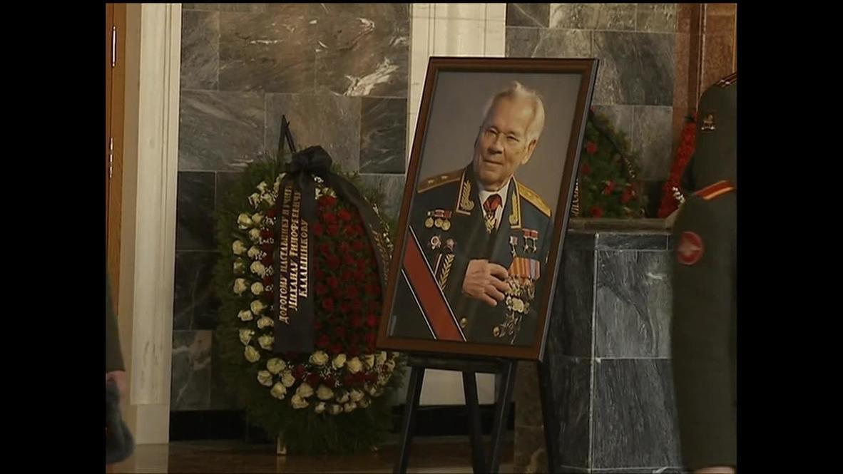 Russia: Kalashnikov farewelled with military honours