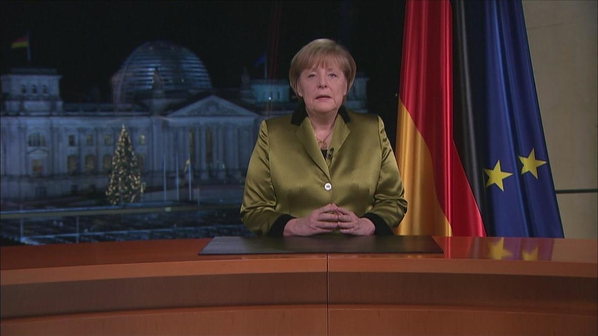 "Germany: Merkel on national ""motivation, commitment, solidarity"""