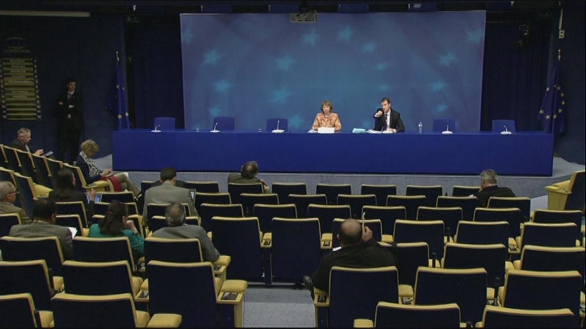 "Belgium: Ashton ""concerned"" over developments in Ukraine"