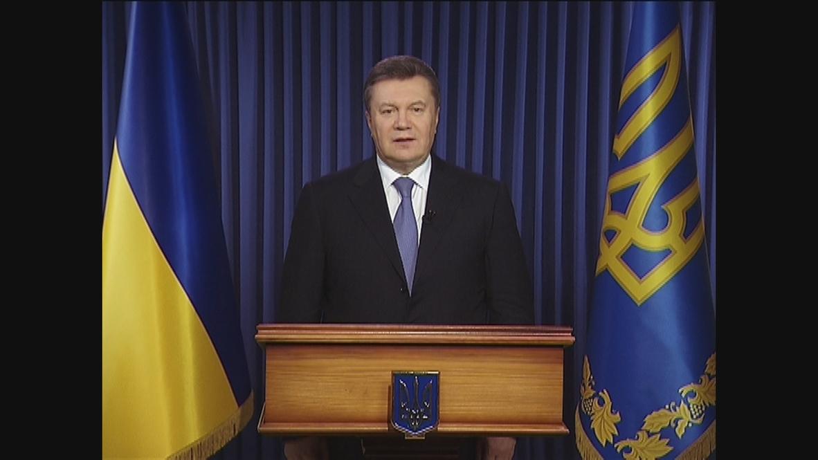 Ukraine: Yanukovych warns about the threat of Ukraine breaking up