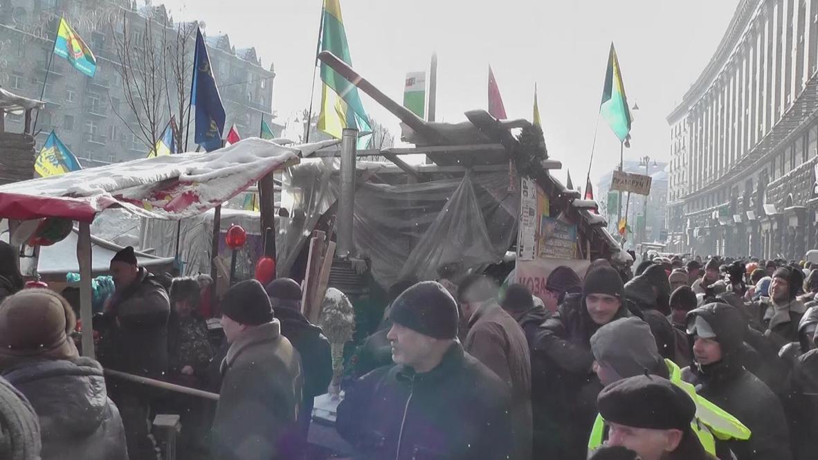 Ukraine: Spent munitions put on display in Kiev