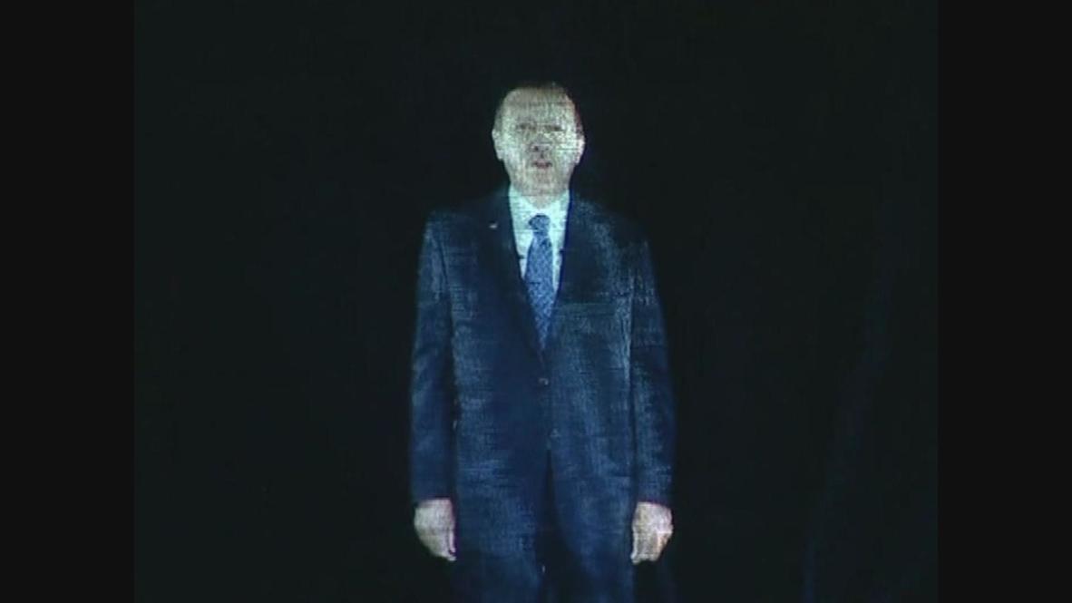 Turkey: Giant hologram Erdogan upstages Tupac at Izmir rally