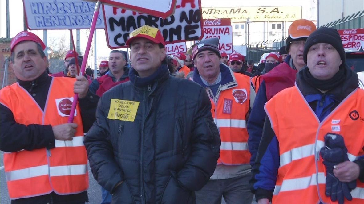 Spain: Coca Cola workers on strike against plant closures