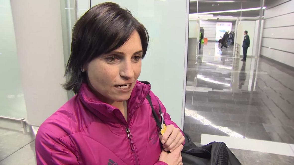 Russia: German biathletes touch down in Sochi