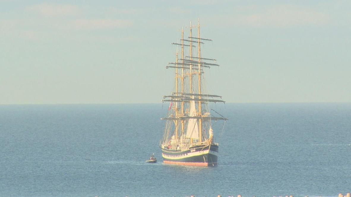 Russia: Legendary Kruzenshtern tall ship docks at Sochi