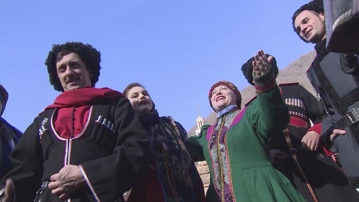 Russia: Folklore celebrated at Sochi Olympics with Kuban Cossacks
