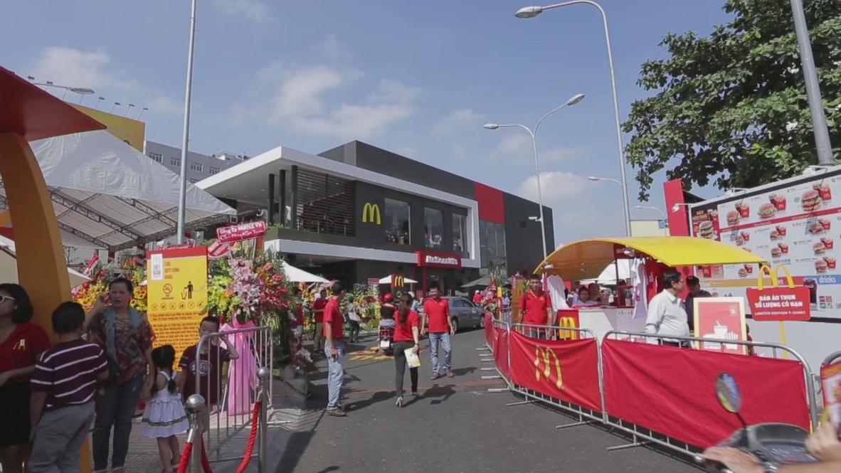 Vietnam: Ho Chi Minh City hails nation's first McDonalds