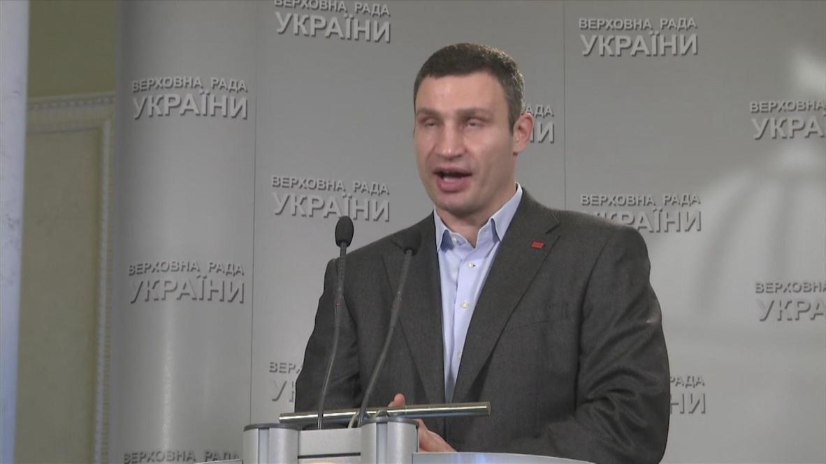 Ukraine: President should be a 'real man' - Klitschko