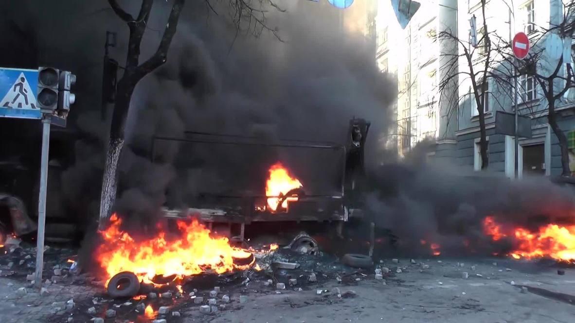 Ukraine: Five dead as Kiev once again resembles war zone