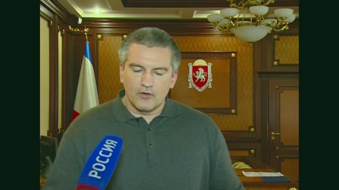 Ukraine: Armed Forces are declaring allegiance en masse- Crimean PM Aksyonov
