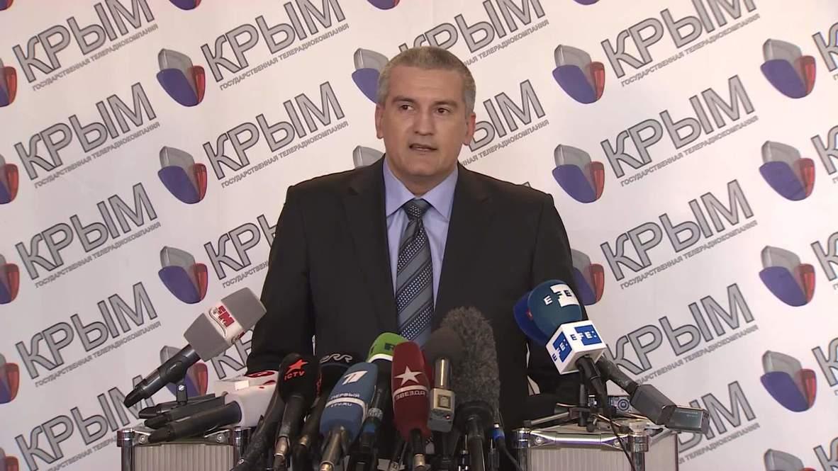 Ukraine: Crimean PM urges Ukrainian troops to follow local orders
