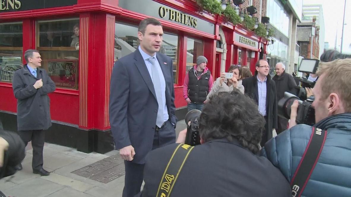 Ireland: Klitschko hopes for Crimea solution 'without blood'