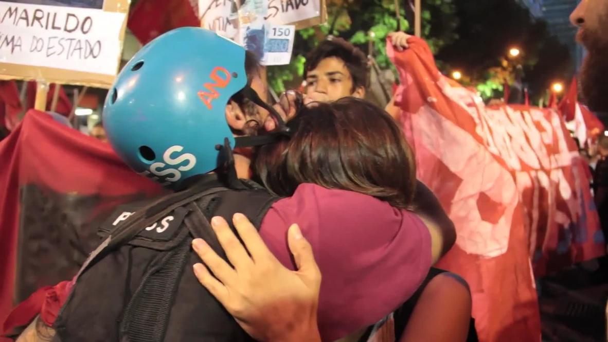 Brazil: Black Bloc Queen joins protesters
