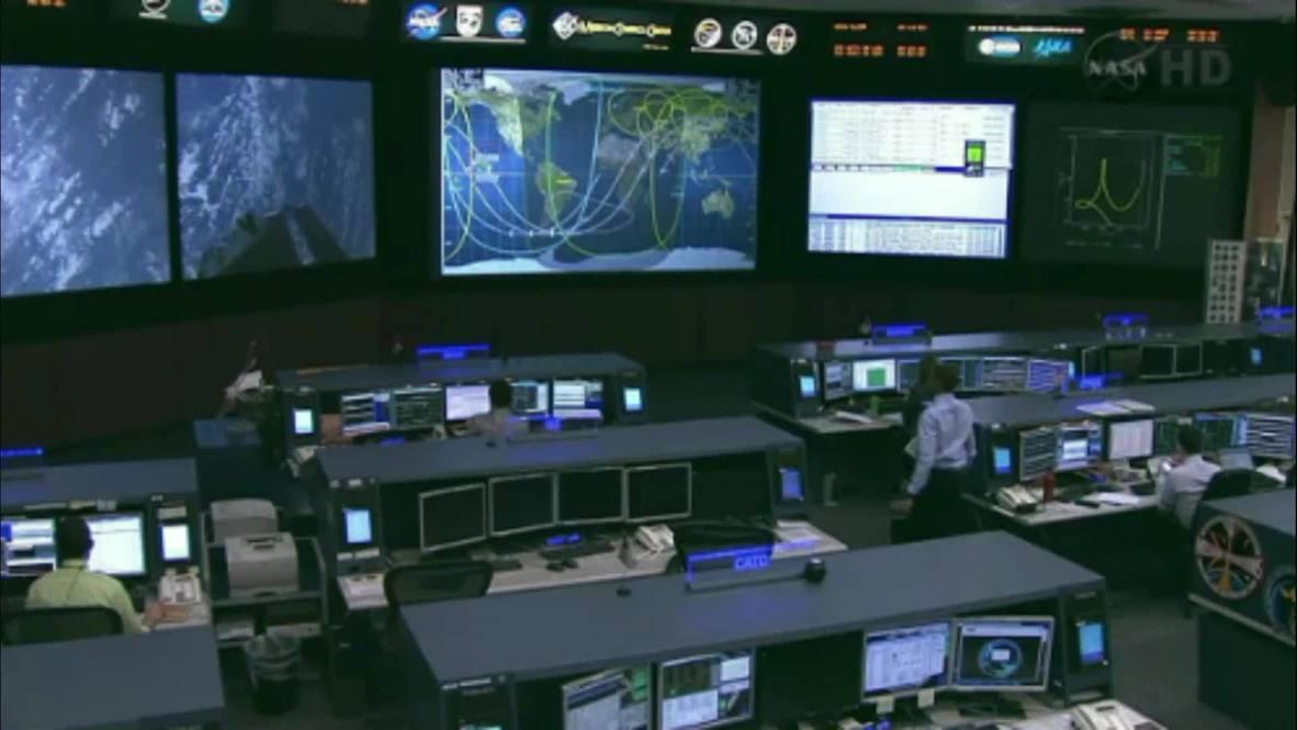 Space: Soyuz executes stunning deorbit burn as it returns to Earth