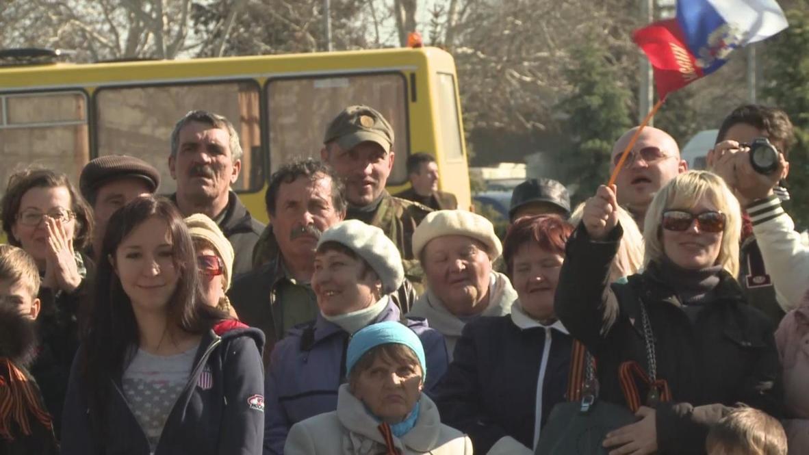 Ukraine: Crimean cossacks hold solidarity rally for Crimea