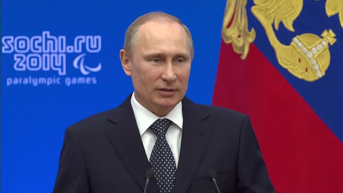 Russia: Putin lauds Russian Paralympic success