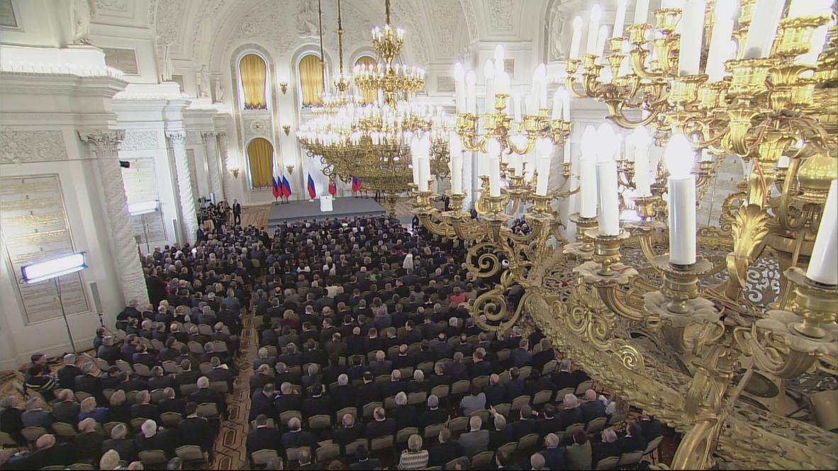 Russia: Putin lambasts 'primitive, direct cynicism of West'