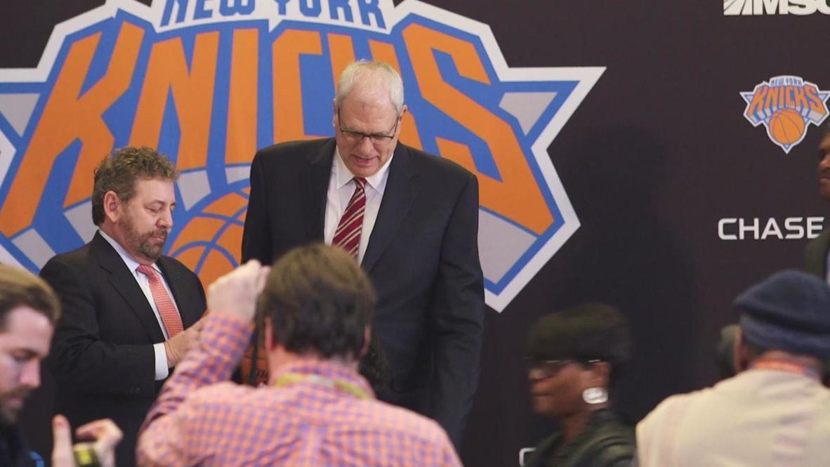 USA: Basketball coach Phil Jackson named as Knicks president