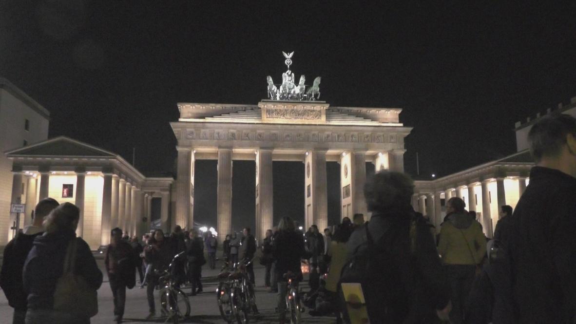 Germany: Berlin's iconic Brandenburg Gate celebrates Earth Hour
