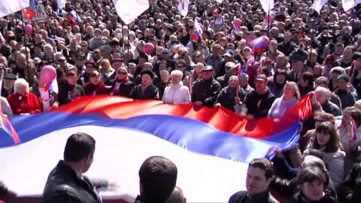 Ukraine: Pro-Russia rally demands Donbass referendum